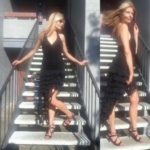 BCBG black Lolita halter dress small medium
